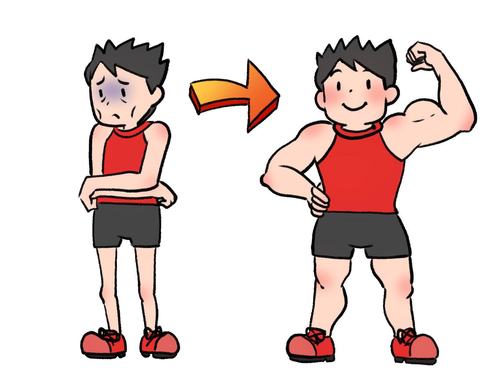 ただ痩せるのではなく、筋肉をつけて痩せる